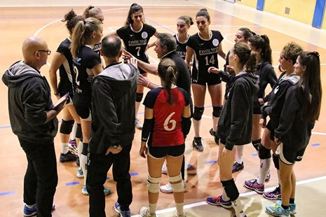 Time-out dell'APV Team Volley 2007.